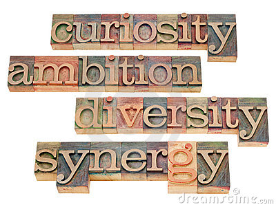 Curiosity, ambition, diversity and synergy