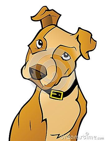 Curious Cartoon Dog