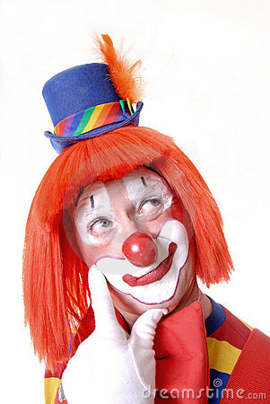 Free Curious Clown Royalty Free Stock Photography - 1577897