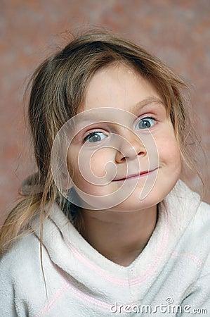 Curious cute little girl