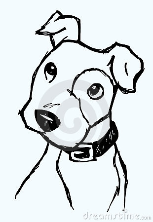 curious dog sketch royalty free stock photo image 14374735