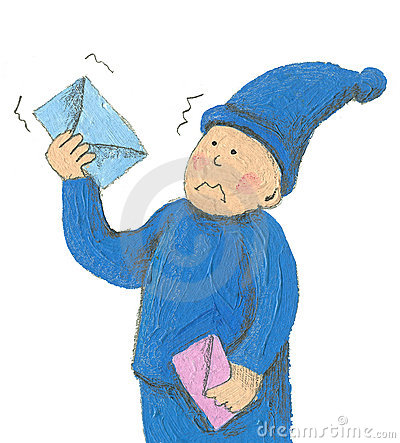 Curious dwarf postman