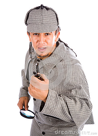 Curious Sherlock Holmes pipe and magnifying glass