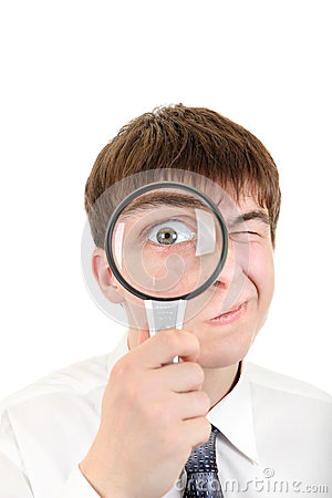 Curious Teenager with a Loupe