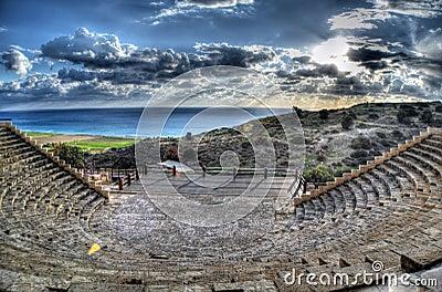 Curium Greco - Roman Amphitheatre in Limassol, Cyprus