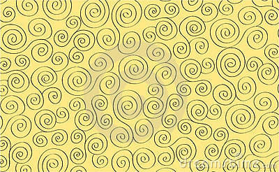 Curl abstract background