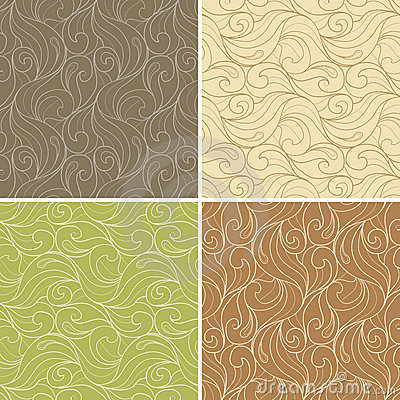 Free Curl Floral Seamless Pattern Combo Stock Photo - 12186630