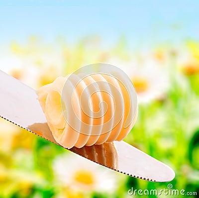Curl of fresh summer butter