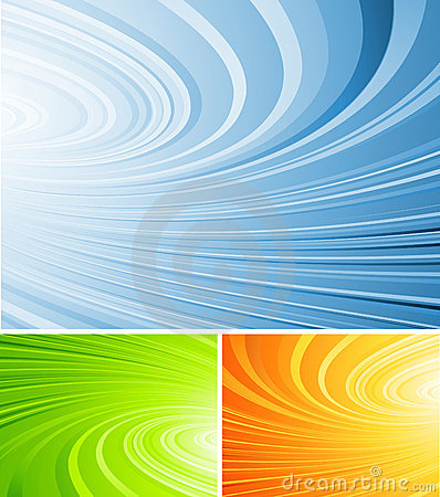 Curled abstract vector