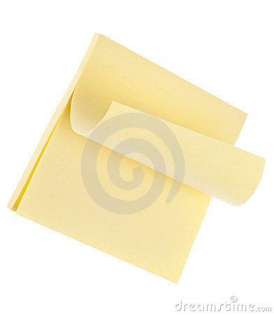 Curled Paper Note Pad