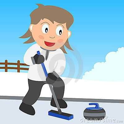 Curling Girl in the Park