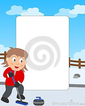 Curling Girl Photo Frame