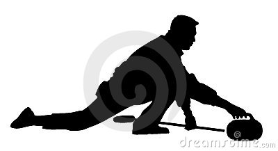 Curling player - man