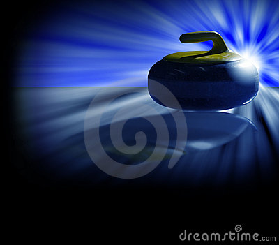 Curling stone backlight blue