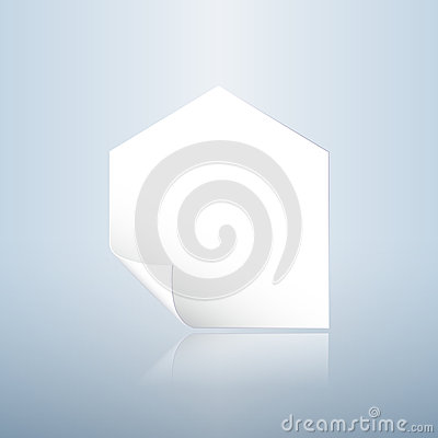 Curly angle home shaped paper