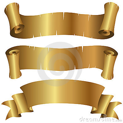 Curly Golden Banners Set
