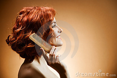 Curly Hair and Comb