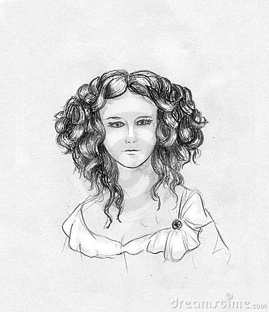 Curly-headed girl portrait