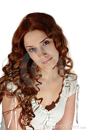 Free Curly Long Haired Girl Stock Image - 7199341