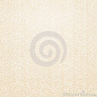 Curly pastel seamless pattern