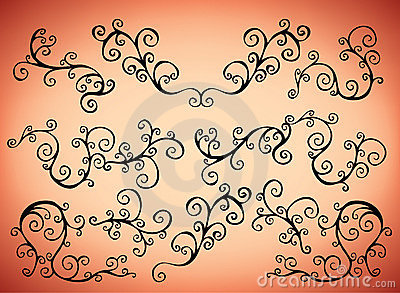 Curly pattern elements
