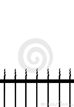 Curly railings border