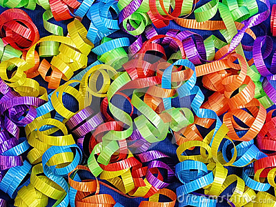 Curly Ribbons Background for Celebrations