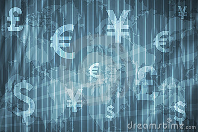 Currencies Collage Abstract Background