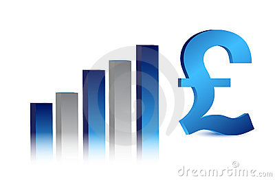 Currency business blue British pound graph