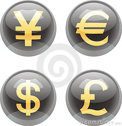 Free Currency Buttons Stock Photo - 18306820