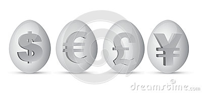 Currency eggs illustration