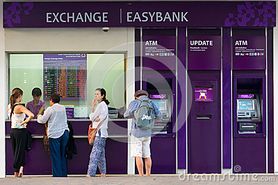 Currency exchange Editorial Stock Photo