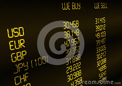 Currency Exchange Rate Royalty Free Stock Photos - Image: 25337048