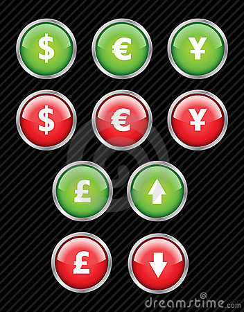 Currency interface icons.