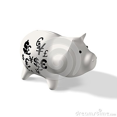 Currency on Piggy