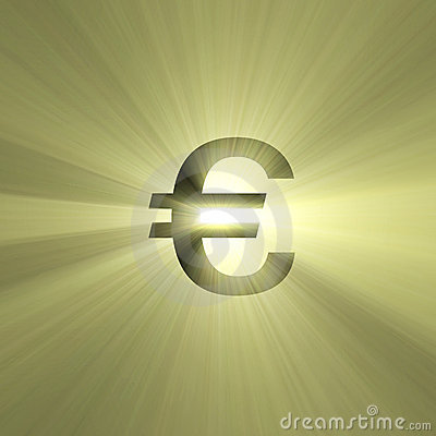 Currency sign Euro light flare