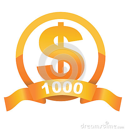 Currency sign of golden dollar