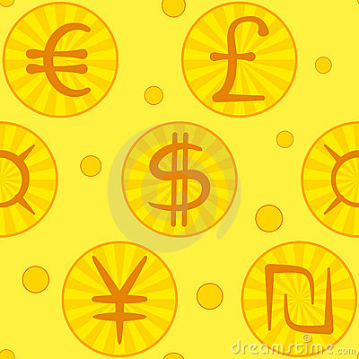 Currency signs, seamless