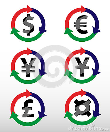 Currency symbols.