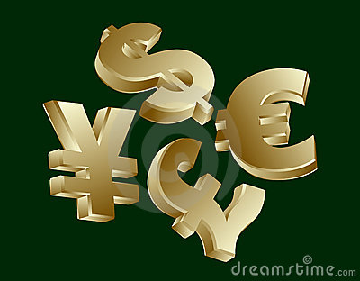 Currency symbols - dollar, euro, yen, sterling