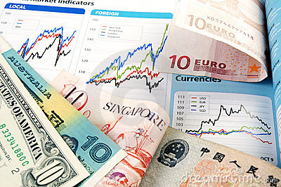 Currency with forex charts