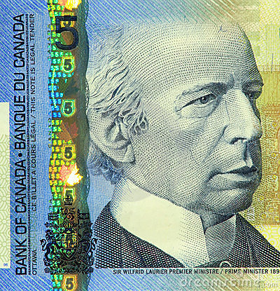 Current Canadian $5 Banknote