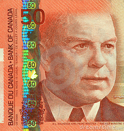 Current Canadian $50 Banknote
