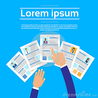Curriculum Vitae Recruitment Candidate Job Vector Illustration