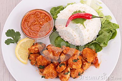 Curry chicken and rice