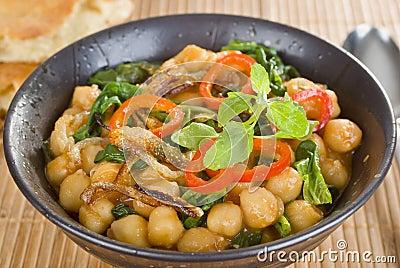 Curry del garbanzo