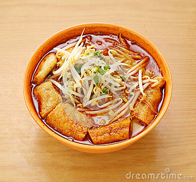 Free Curry Laksa Which Is A Popular Traditional Spicy Noodle Soup Fro Royalty Free Stock Image - 29632996