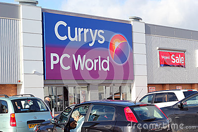 Currys PC world store. Editorial Photography