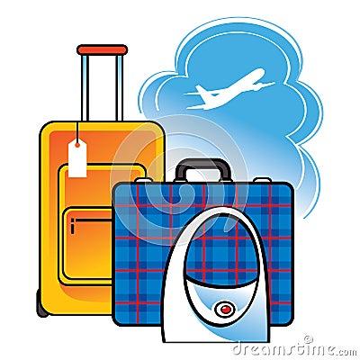 Curso do aeroporto do saco da mala de viagem da bagagem