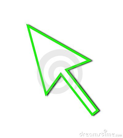 Cursor Arrow Mouse Green Line